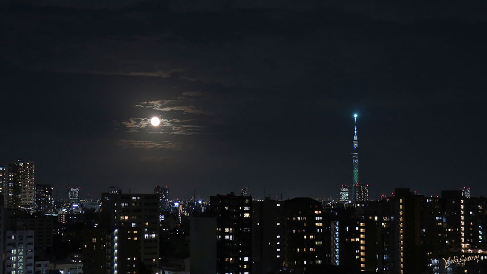 中秋の名月(2021-09-21 18:34)