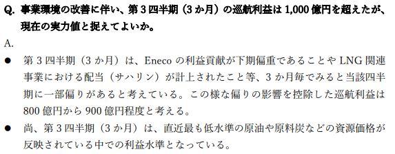 三菱商事決算説明会質疑応答②202103-q3