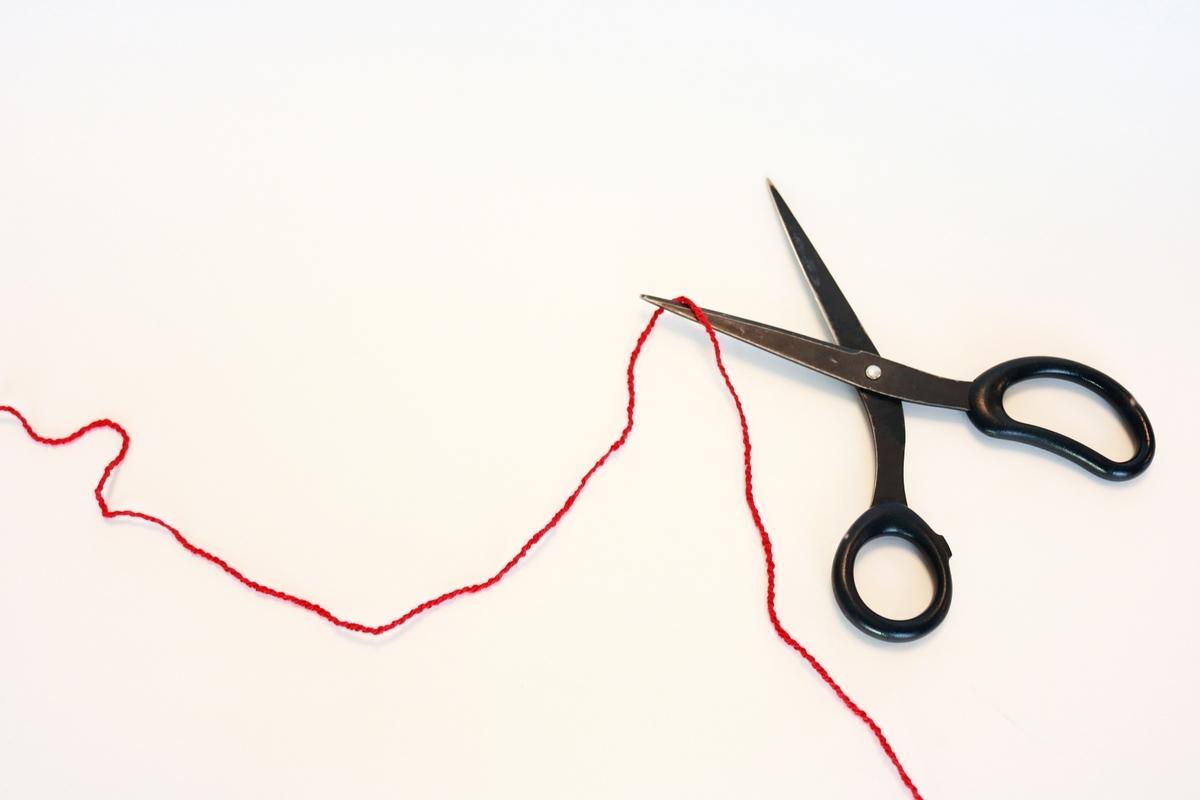赤い糸とハサミ:Soseki21