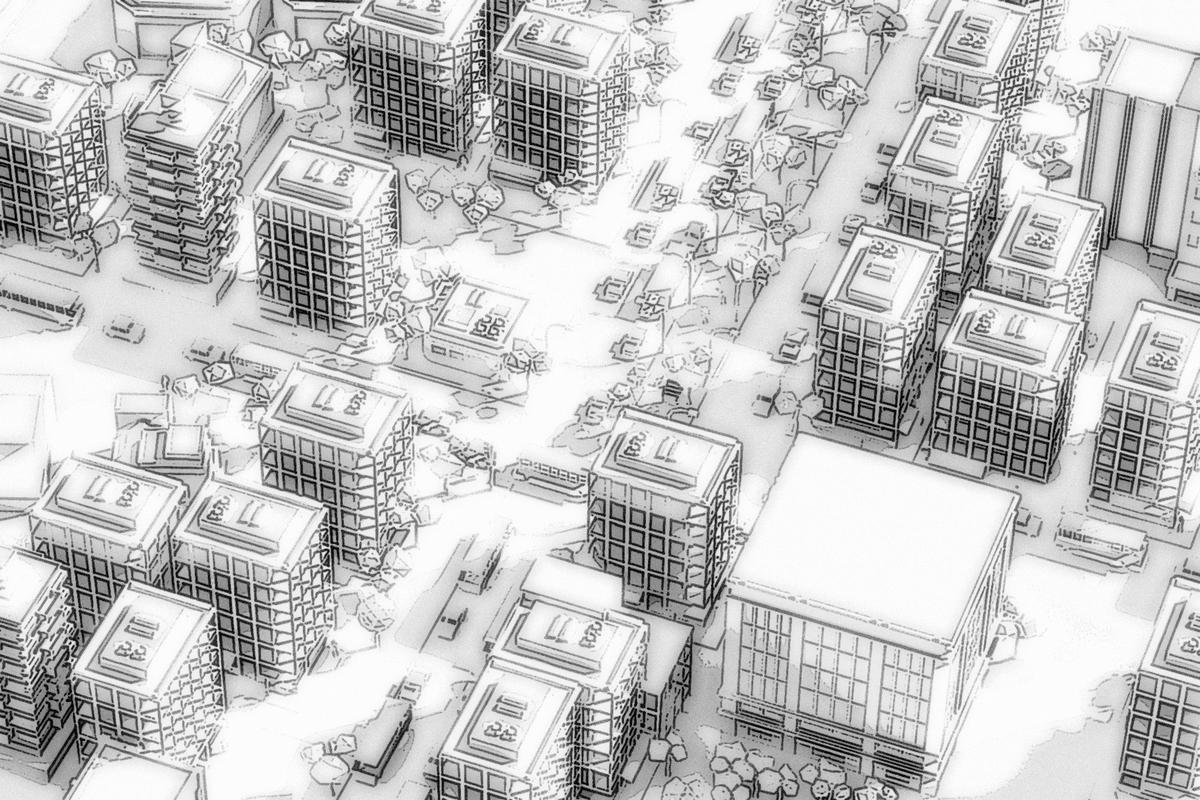 街の俯瞰:Soseki21ブログ