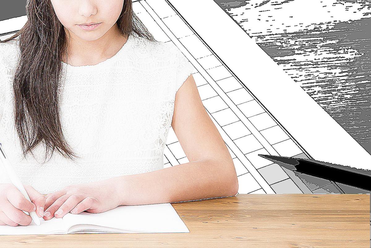 小説を書く女性:Soseki21ブログ