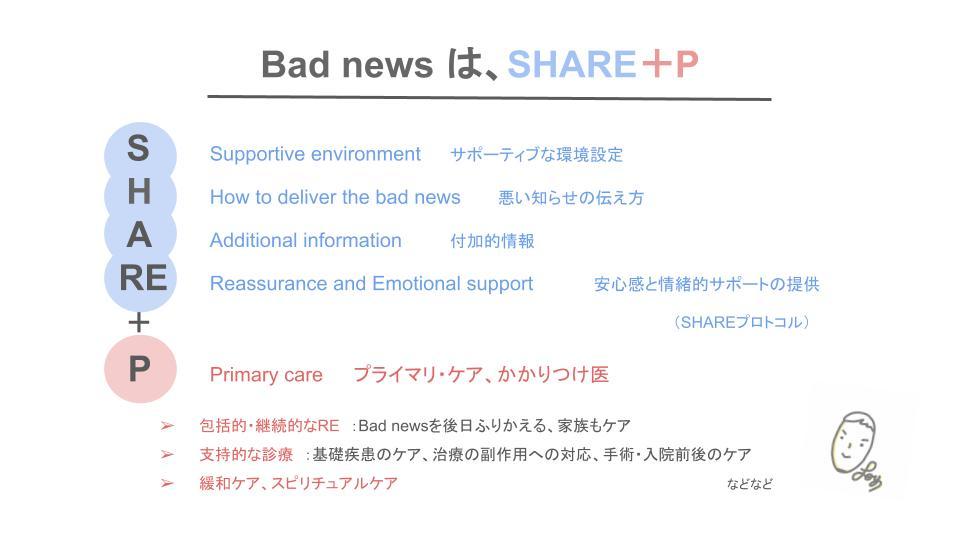 Bad newsは、SHARE+P