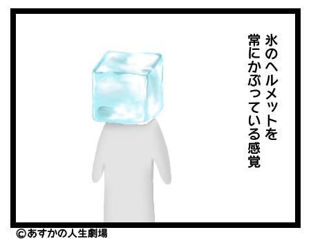画像:氷のヘルメット