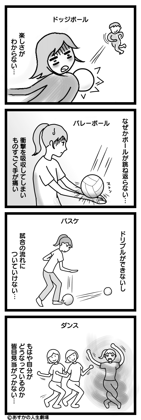 漫画:運動が苦手