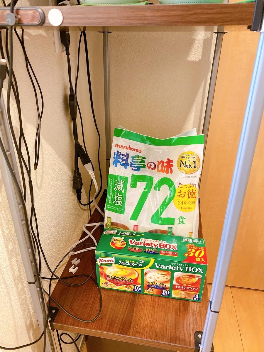 72袋は後ろのケトルが完全に隠れる程度に大きいw
