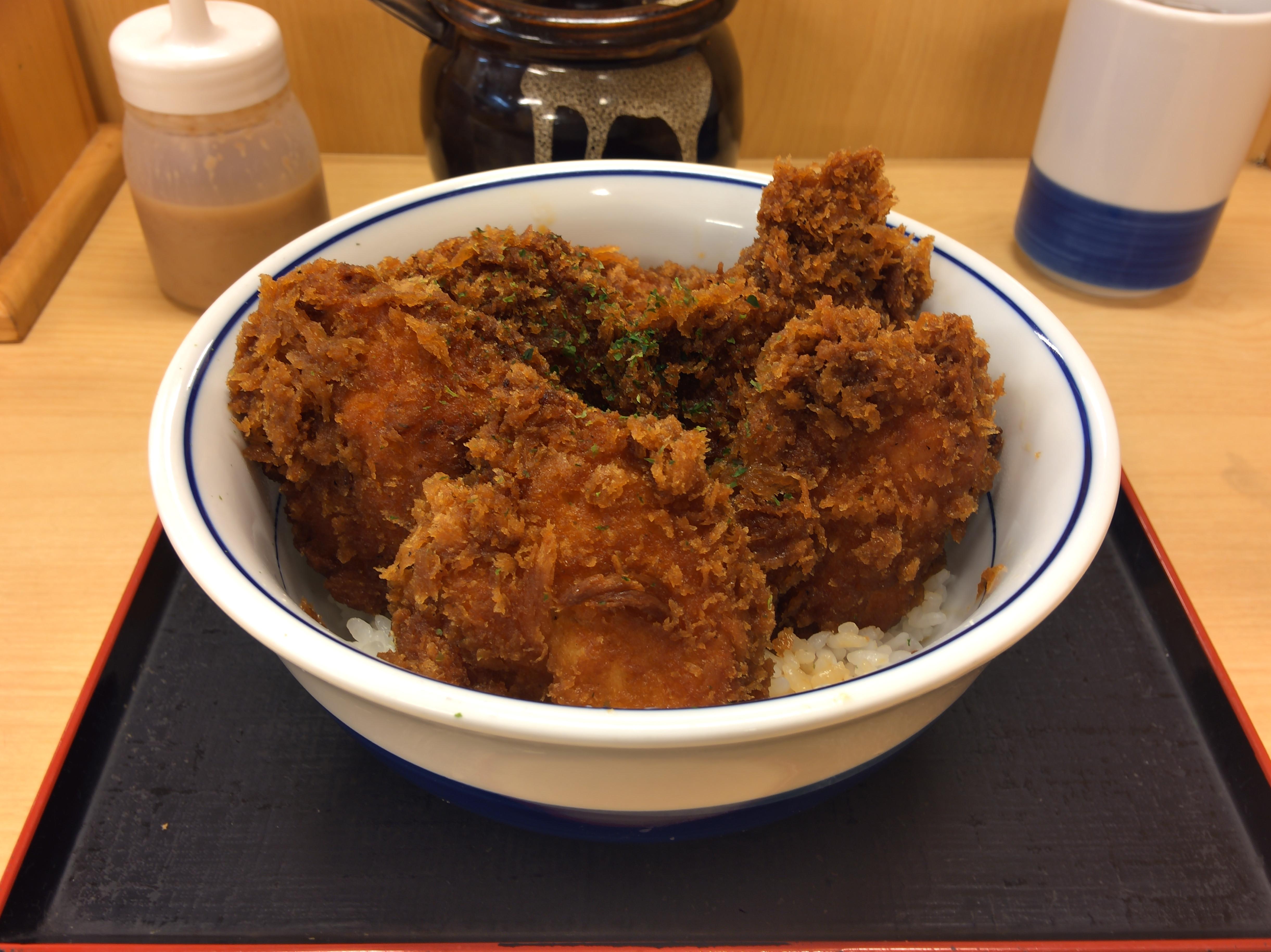 [かつや][タレカツ丼][特盛り][ご飯少なめ][税込み702円]
