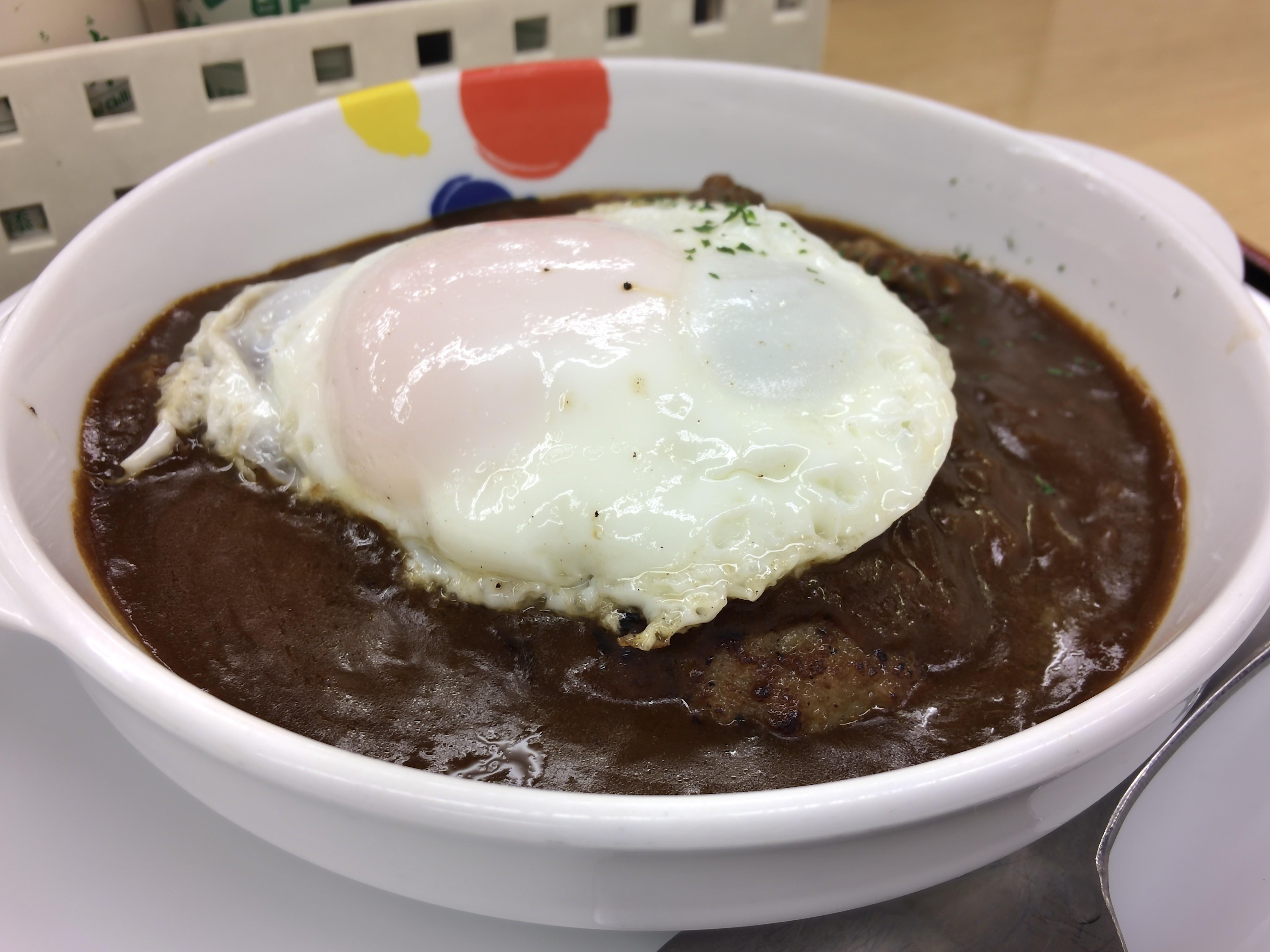 [松屋][ビーフシチュー][エッグハンバーグ定食][税込み690円][1124kcal]