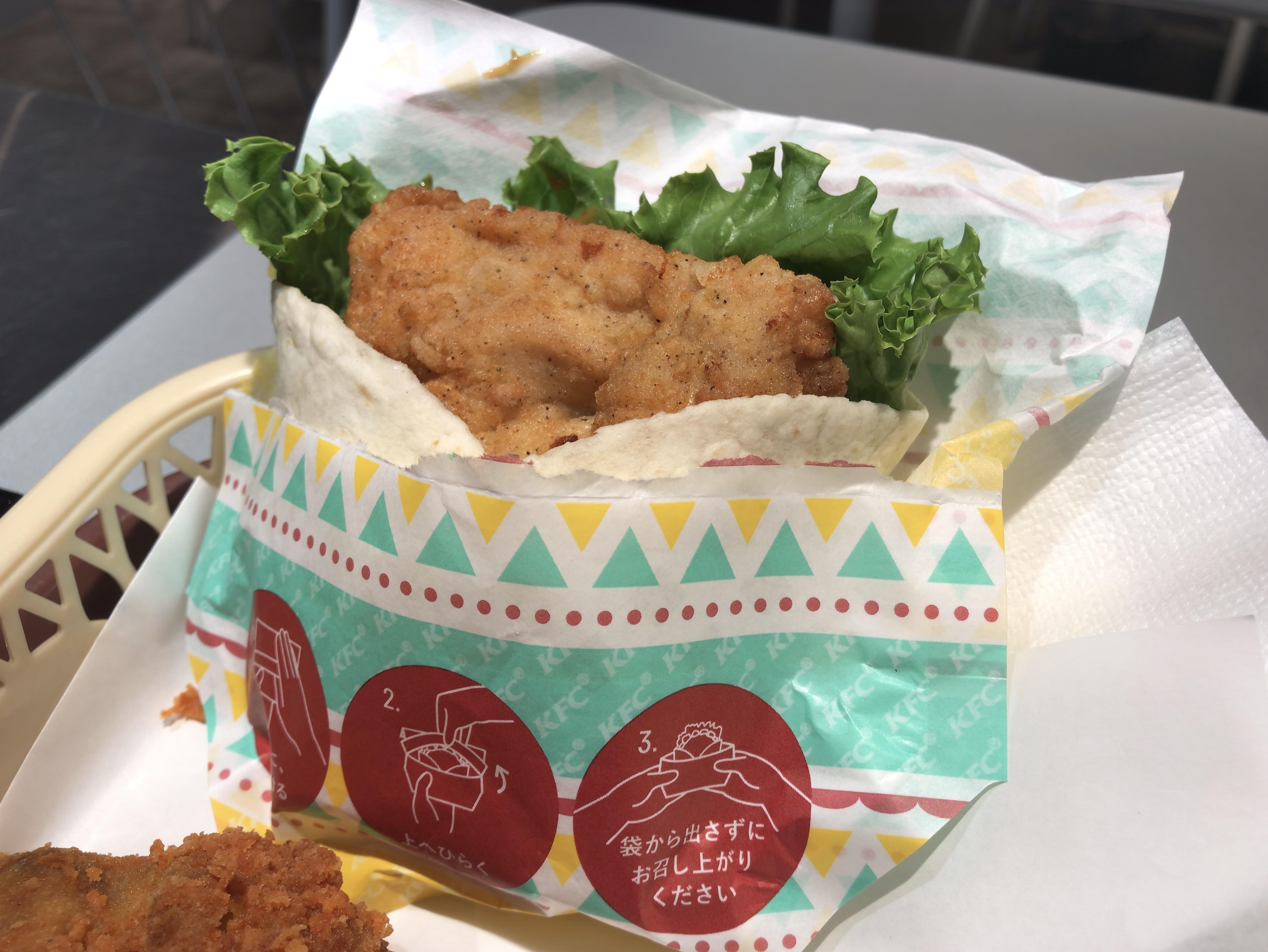 [KFC][スパイシー][チキンラップ][ムチョス][税込み490円][443kcal]