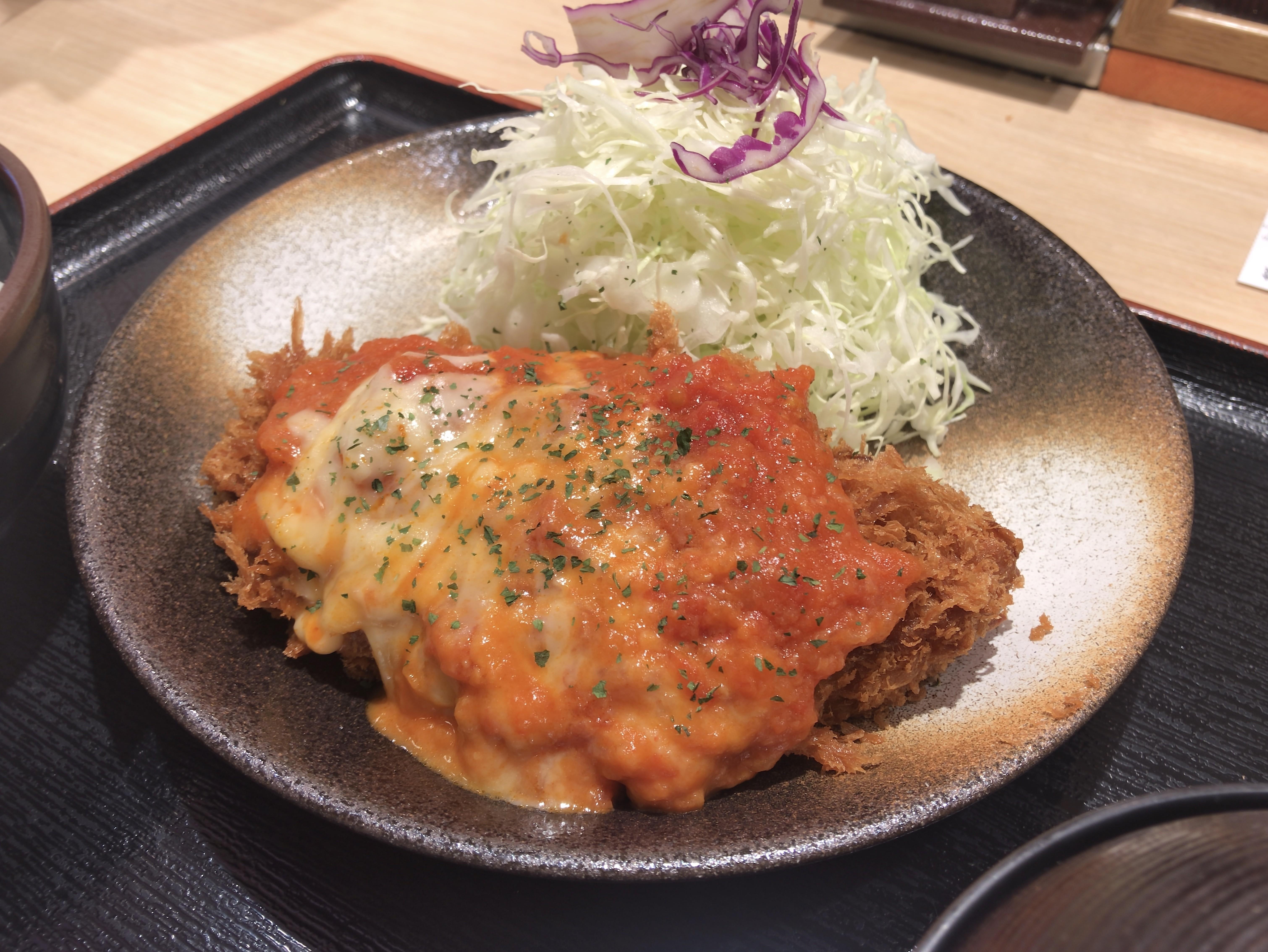 [松乃家][チーズトマト][ロースかつ定食][税込み630円][1032kcal]