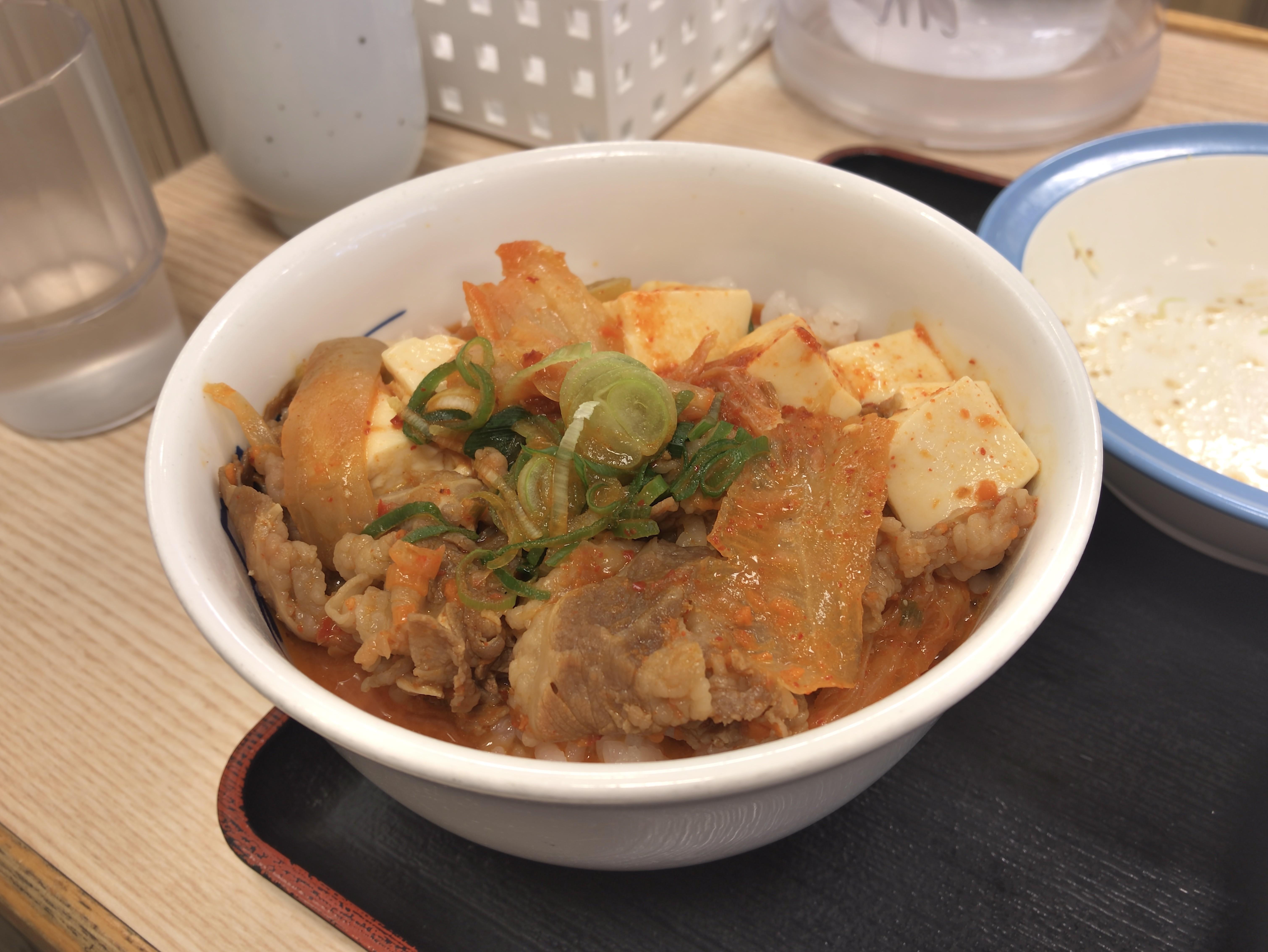 [松屋][ミニ豆腐キムチチゲ][ライス]