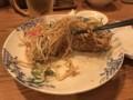 [バーミヤン][溝の口店][とんこつ焼ラーメン][焼き固まった麺]