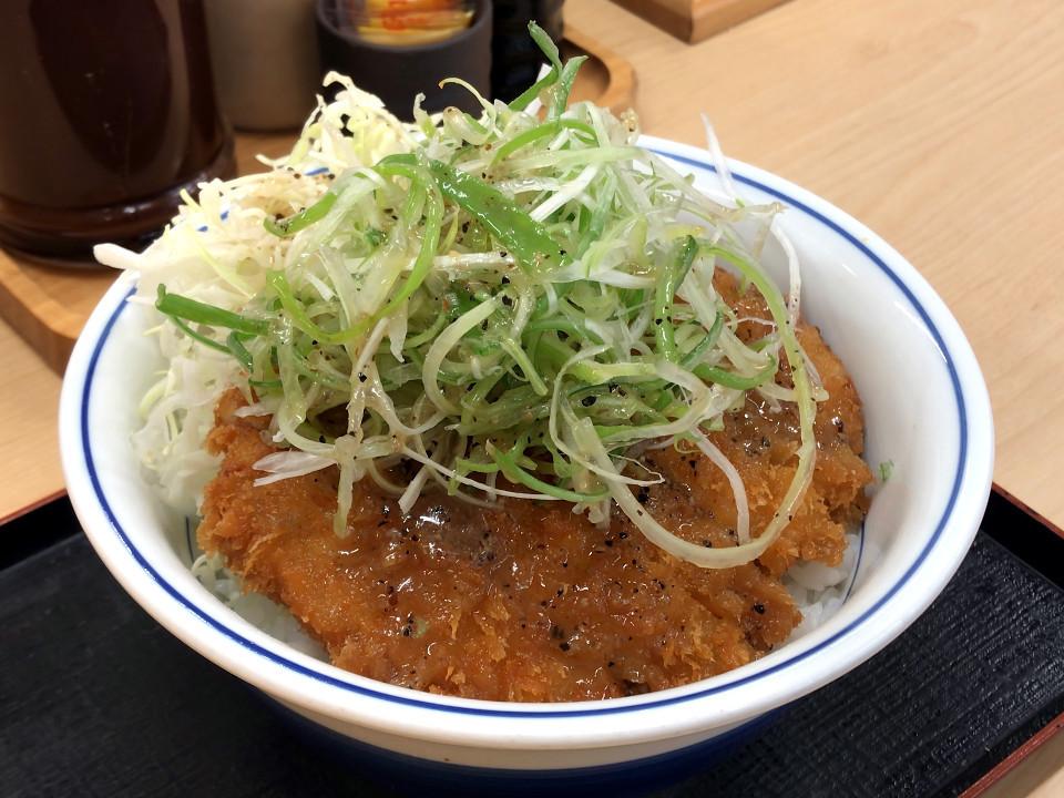 [かつや][ねぎ塩カツ丼][税込み637円]