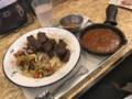 [野菜を食べる][BBQカレーcamp][新橋本店][BBQビーフカレー][1490円][粗挽きスパイシー][カレーソース][50円][トッピングチーズ][150円]