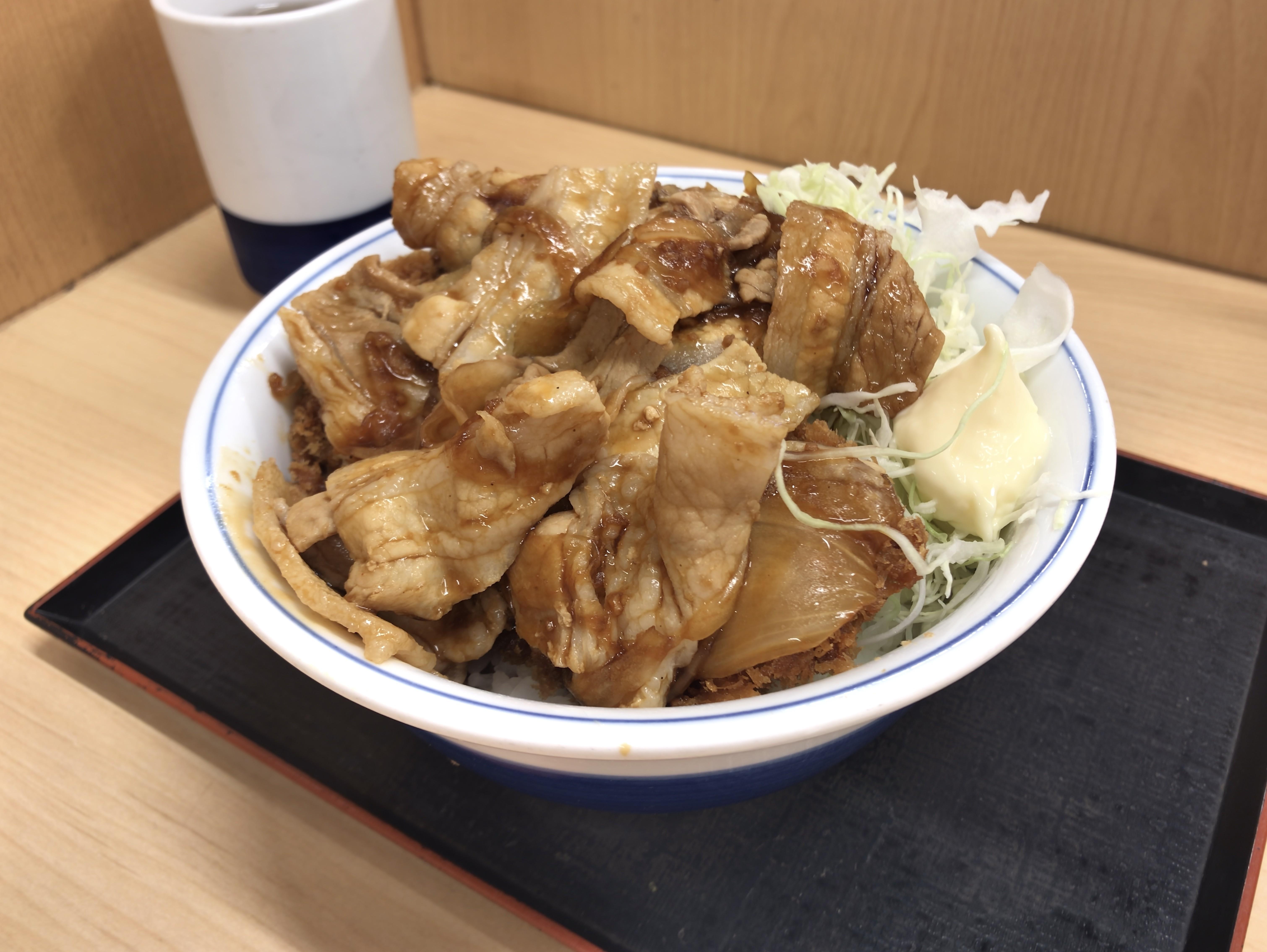 [かつや][肉盛りチキンカツ丼][税込み637円]