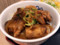 [松屋][鶏のバター醤油炒め][定食][ご飯乗せ]