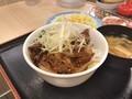 [松屋]松屋 牛焼肉の旨辛炒め定食 丼盛り