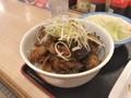 [松屋]松屋 豚と茄子の辛味噌炒め定食 丼盛り