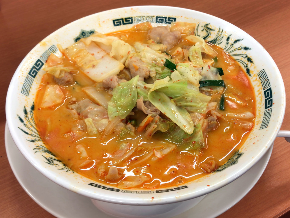 日高屋 モツ野菜ラーメン 税込み610円 839kcal