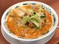 [日高屋]日高屋 モツ野菜ラーメン 税込み610円 839kcal