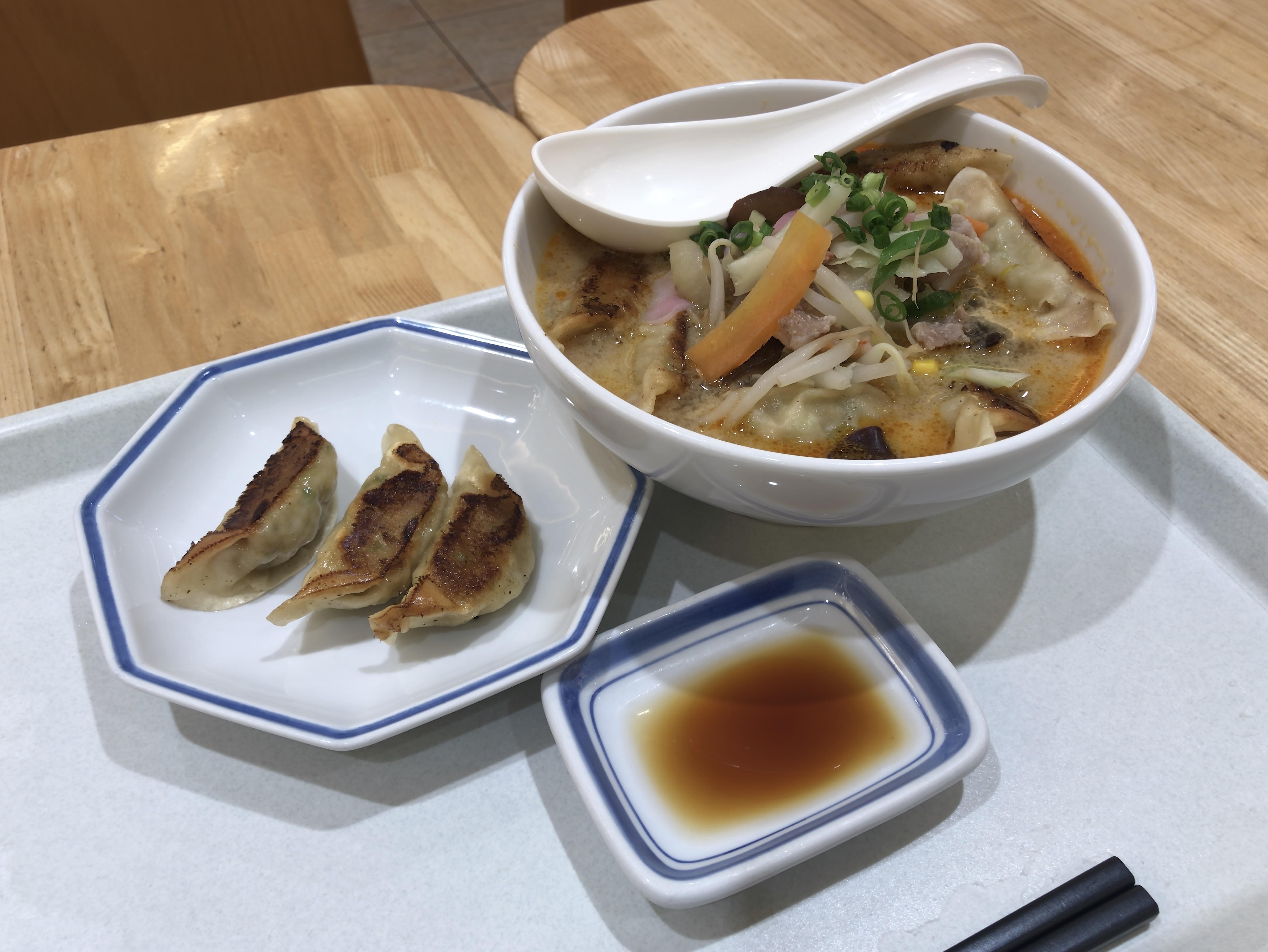 リンガーハット ぎょうざちゃんぽん 税込み842円 餃子3個(サービス券