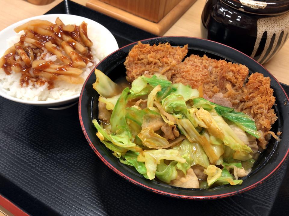 かつや 生姜焼きとん汁定食 税込み918円