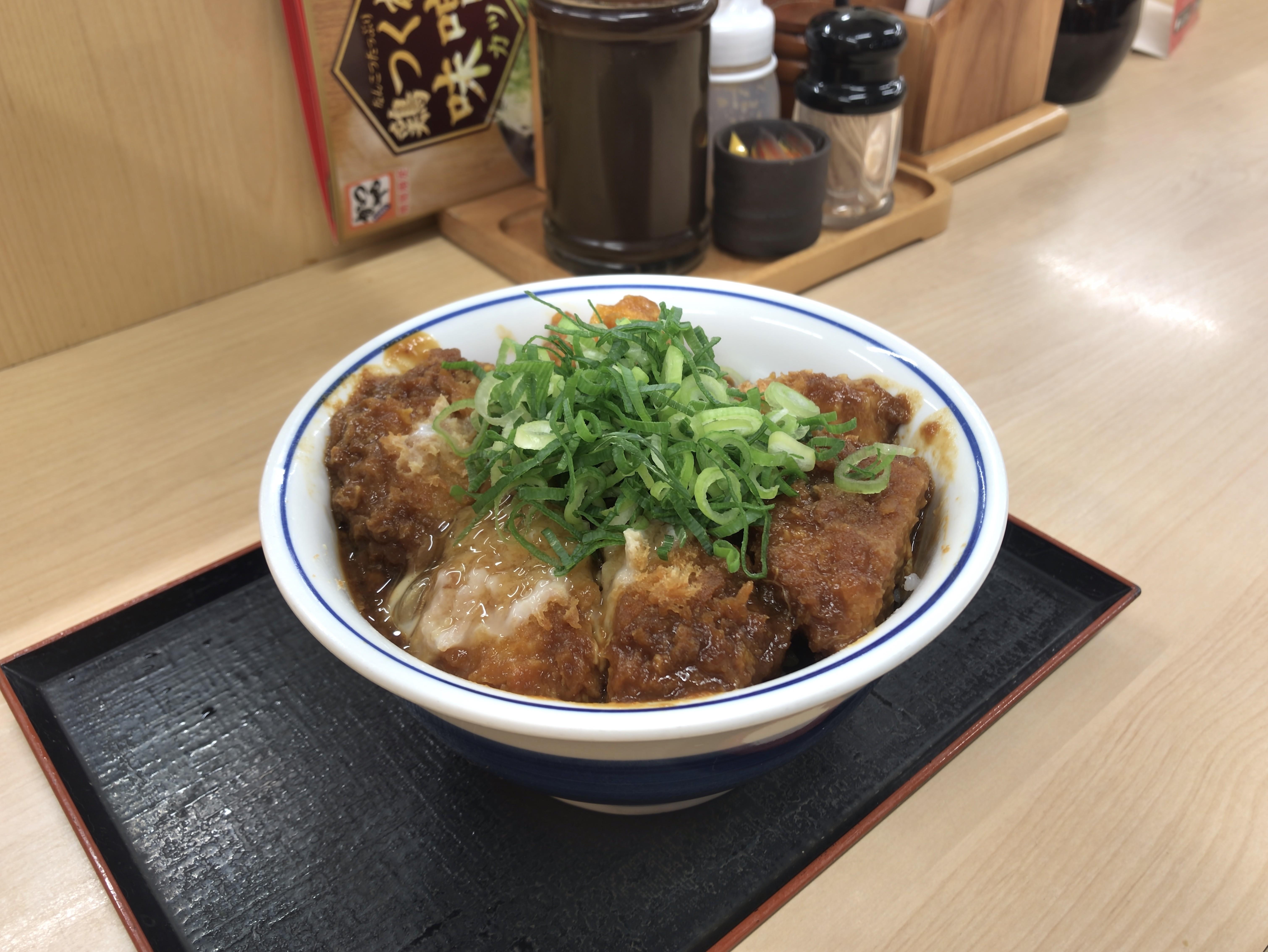 かつや 鶏つくね味噌カツ丼 税込み637円