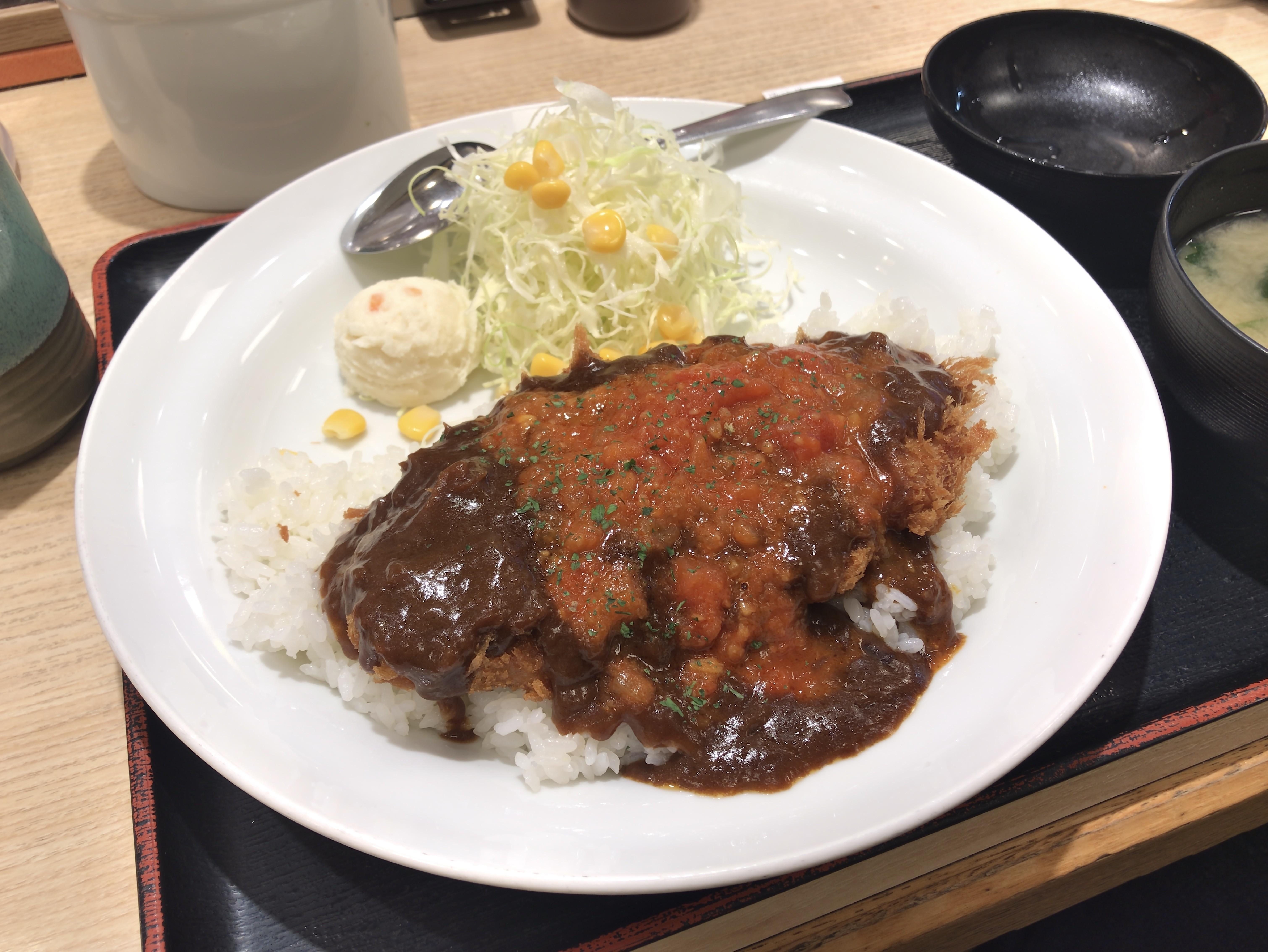 松乃家 洋風ロースかつ丼 税込み630円 1115kcal