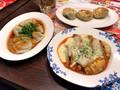 [バーミヤン]バーミヤン 餃子博覧会 水餃子四川胡麻ソース ニラと鶏肉の焼まんじゅ