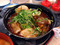 松屋 鶏と玉子の味噌煮込み鍋膳 650円 1063kcal 増しチーズ 150円 180kcal (