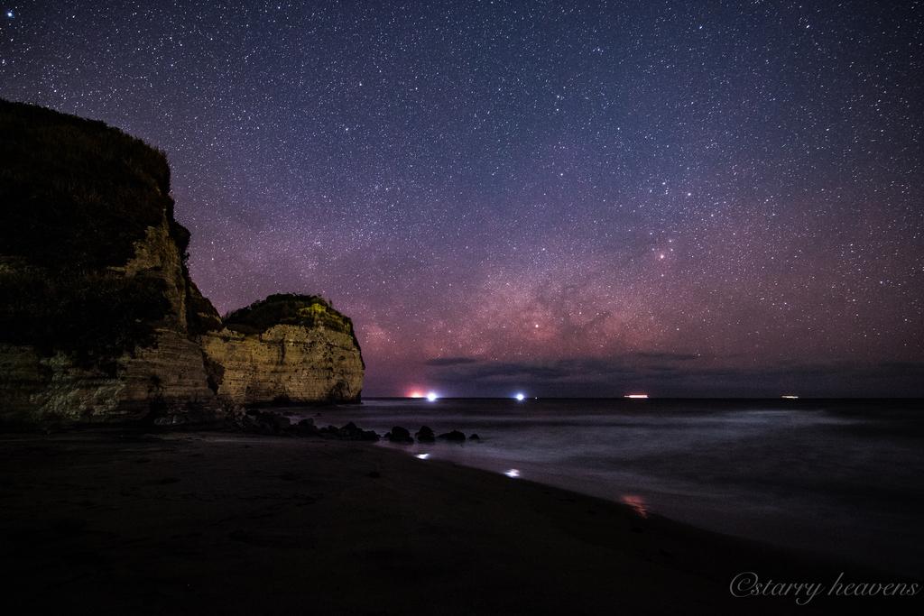 千葉県 小夜月海岸 天の川