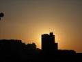 [夕方][建物][空][太陽]マンション