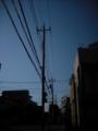 [電柱][電線][空][街]電柱と電線