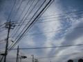 [空][雲][電柱][電線]空