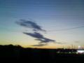 [空][雲][夕方][電線]夕空