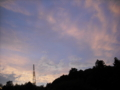 [空][雲][夕方][鉄塔]夕空