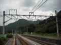 [鉄道][空][山][雲]上牧駅