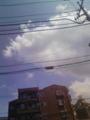 [空][雲][電線][建物]空