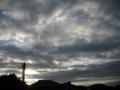 [空][雲][電線][電柱][太陽]空