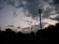 [街灯][公園][街][空][雲]明け方