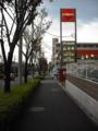 [木][街][文字・看板]街路樹と歩道