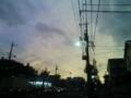 [空][夕方][街][雲][電線][電柱]夕空