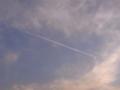 [雲][空][夕方]飛行機雲