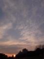 [太陽][夕方][空][雲]日没