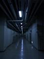 [夜][廊下][建物]大学構内