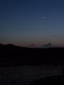 [月][夕方][空][星][田畑]夕空、月と金星