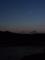 夕空、月と金星