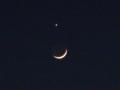 [月][夜][空][星]月と金星