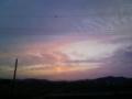 [夕方][空][雲][電線][電柱]夕空