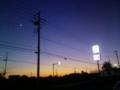 [空][夕方][街][電線][電柱][月]夕方