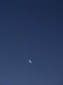 [月][星][空]明けの明星と朝の月
